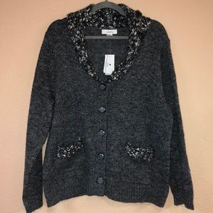 New!! cj banks Button Down Sweater Cardigan